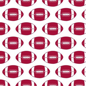 college football (crimson and white)