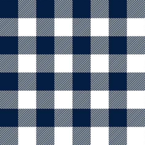 "1"" navy buffalo check - plaid fabric by littlearrowdesign on Spoonflower - custom fabric"