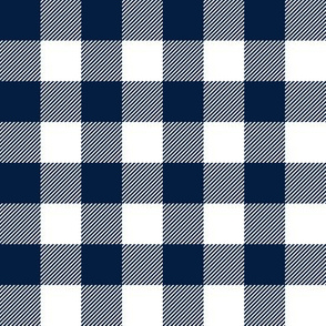 "1"" navy buffalo check - plaid"