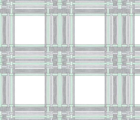 Gray and Green Picture Frame Plaid fabric by debra_may_himes,_asid on Spoonflower - custom fabric