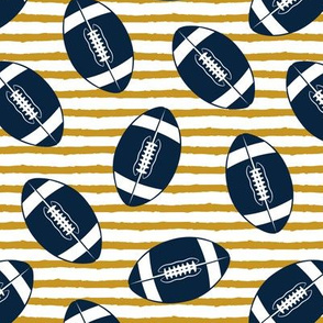 college football (blue and gold)