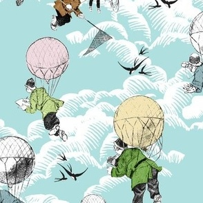 naturalist baloon brigade; colorized