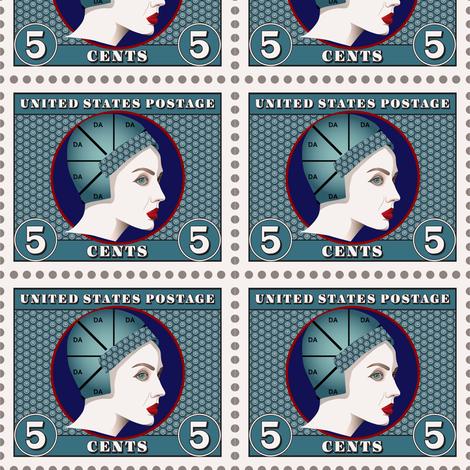 1920s Postage Stamp Fabric