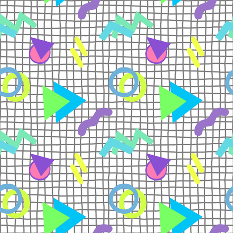 Memphis 80s design, 80's fabric by lub_by_lamb on Spoonflower - custom fabric