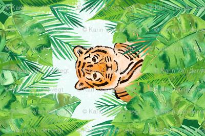 Tiger in the Jungle Tea Towel