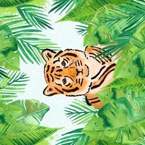 Tiger in the Jungle Tea Towel