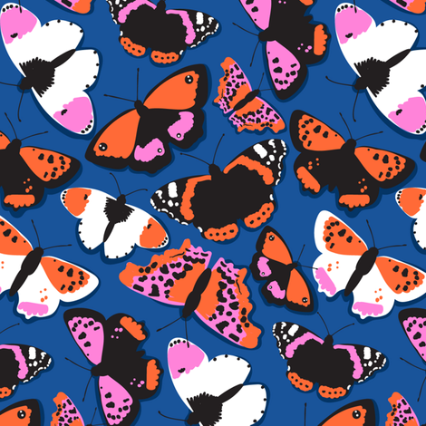 butterflies pattern-01 fabric by laura_may_designs on Spoonflower - custom fabric