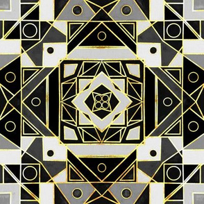 Art Deco Gold, Black & White - Small