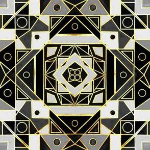 Art Deco Gold, Black & White - Small