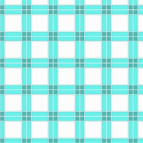 Chubby not -a-  Bunny  -nursery plaid