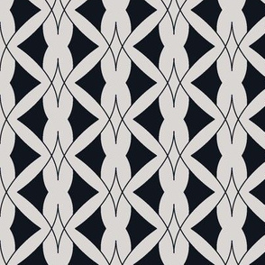 Art Deco silver geometric