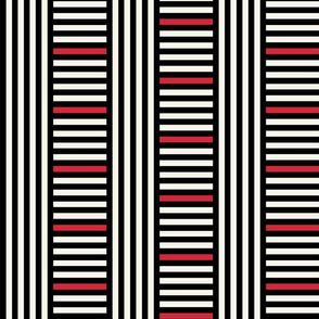 Classic Art Deco elegance in a stripe play by Su_G