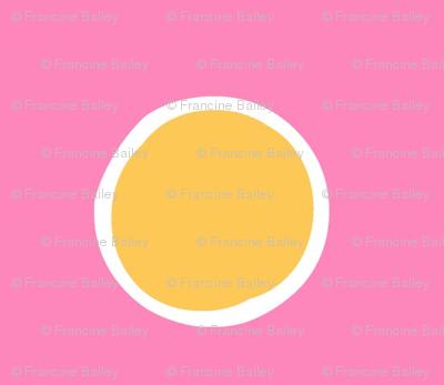 Chubby not -a-  Bunny  -Pink/yellow Polka-Dot -ed-ed