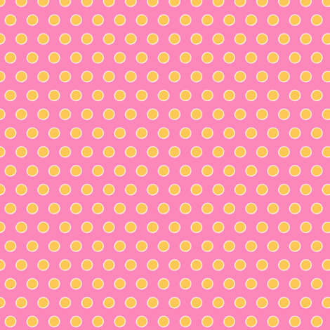 Chubby not -a-  Bunny  -Pink/yellow Polka-Dot -ed-ed fabric by franbail on Spoonflower - custom fabric