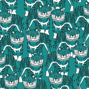 It's just tigers teal (medium scale)