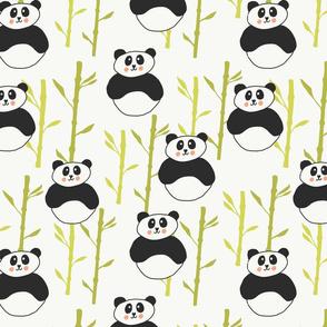 Panda And bamboo