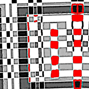 Black and Red Gridlock