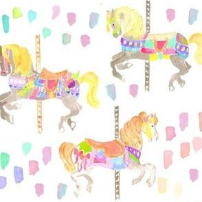 carousel horses paint