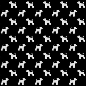 Schnauzer Shilhouette White on Black Small
