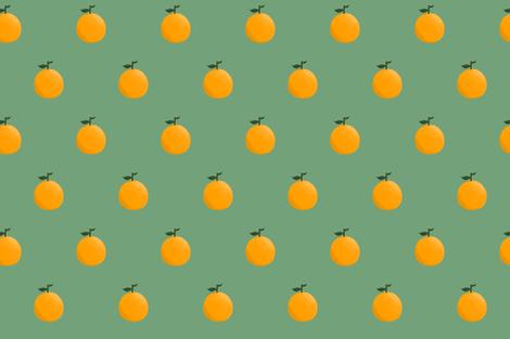 Orange ya glad? - Forest Green fabric by bryhannon on Spoonflower - custom fabric