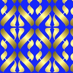 Metallic Alef on Blue