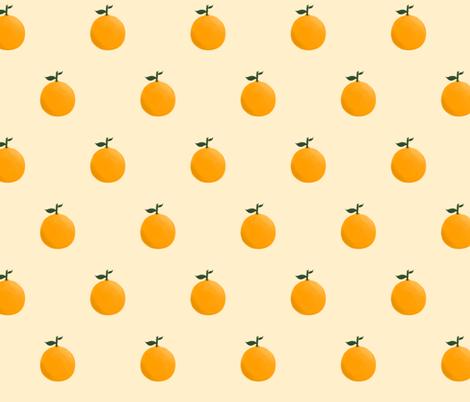 Orange ya glad? - Yellow/Cream fabric by bryhannon on Spoonflower - custom fabric