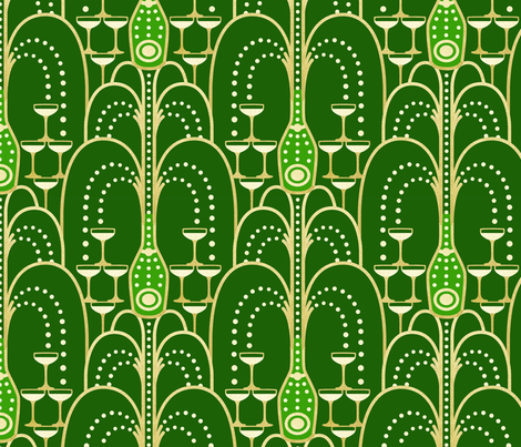 1920s Deco Champagne Fountain fabric by hannahshields on Spoonflower - custom fabric