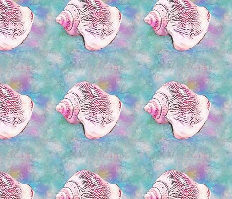 shell three  fabric by koalalady on Spoonflower - custom fabric