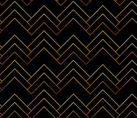 Art Deco Chevron Lines_Bg Black fabric by mia_valdez on Spoonflower - custom fabric