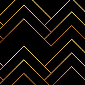 Art Deco Chevron Lines_Bg Black
