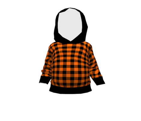Classic Halloween Plaid in Orange + Black