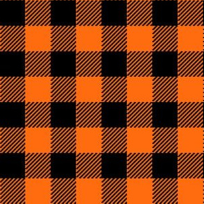Classic Halloween Plaid in Orange + Black