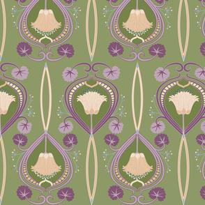 1920's floral Deco