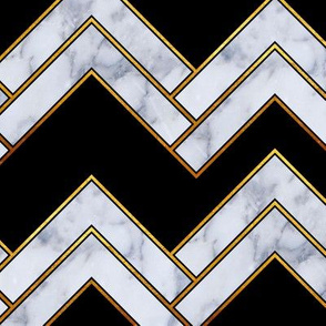 Art Deco Chevron_Black and Marble