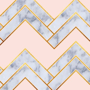 Art Deco Chevron_Pink and Marble