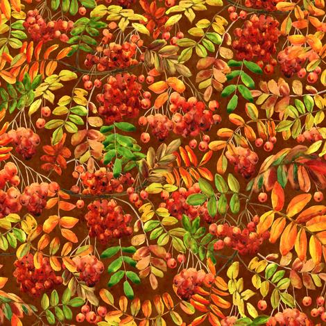 rowan dark (small scale) fabric by svetlana_prikhnenko on Spoonflower - custom fabric