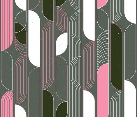 Mod Deco Flow M+M Stone by Friztin fabric by friztin on Spoonflower - custom fabric