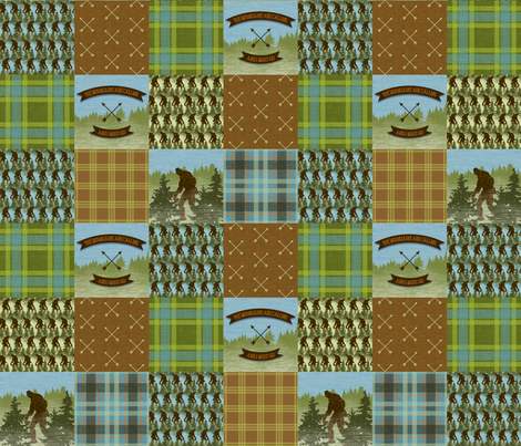 Big Foot Patchwork fabric by thecalvarium on Spoonflower - custom fabric