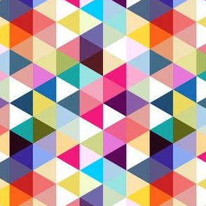 Triangle rainbow mosaic seamless pattern abstract geometry background