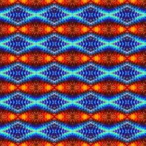 Blue Connected Diamonds
