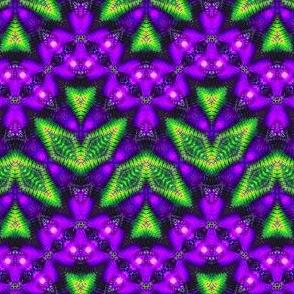 Feathered Purple Zigzag