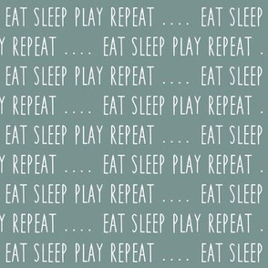 (small scale) EAT SLEEP PLAY REPEAT (custom blue) C18BS
