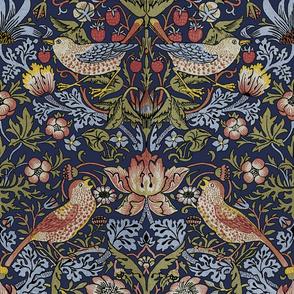William Morris ~ Strawberry Thief ~ Original Blue ~ Large