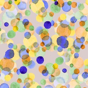 Bubble dots in Watercolor