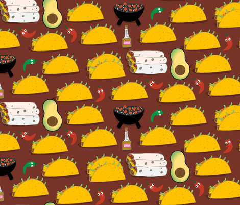 Taco Tuesday fabric by pixabo on Spoonflower - custom fabric
