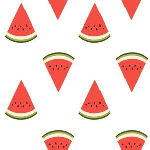watermelon fruit fabric - fruit, fruits, melon, watermelons, red, summer, - white