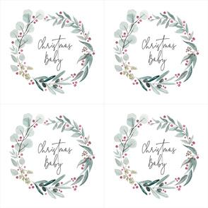 Christmas Baby 6 Loveys // Christmas Wreath Loveys