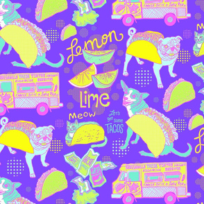 Let's Get Some Tacos! in Neon Purple