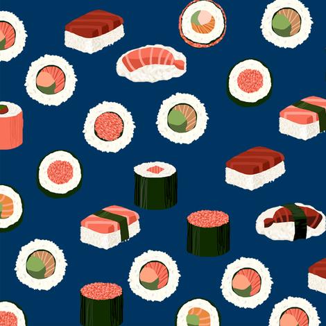 Sushi Fabric Sushi Sashimi Japan Japanese Food Food Cute