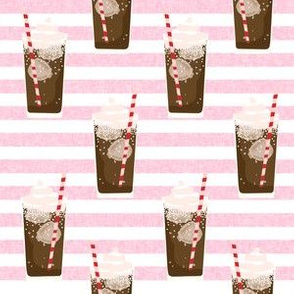 root beer float - cute ice cream soda, pop, root beer drinks, classic - pink stripe